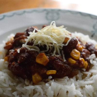 Chili con carne. Warmth and spice for dreary days.