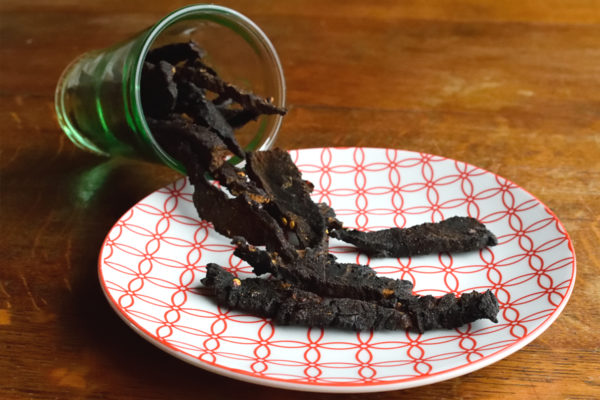 Beef jerky. Sweet, salty and spicy.