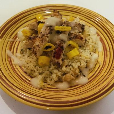 Sumac chicken with lemon couscous