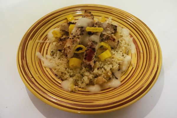 Chicken sumac with lemon couscous