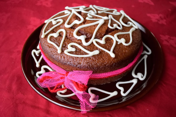 Beetroot valentine's day cake.