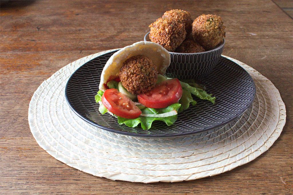 Home made vegan falafel