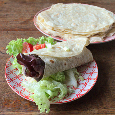 Make your own flour tortilla wraps