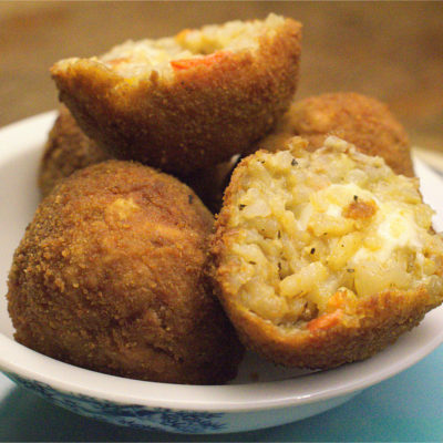 Arancini. Cheesy Risotto Balls.