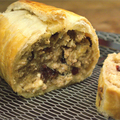 Mince Wellington with Cranberries