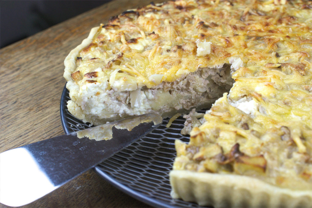 Parsnip Tart with Feta and Walnuts