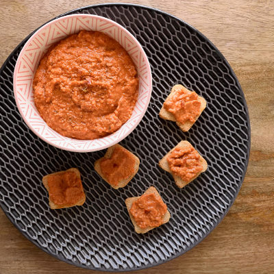 Muhammara. Red pepper and Walnut spread.