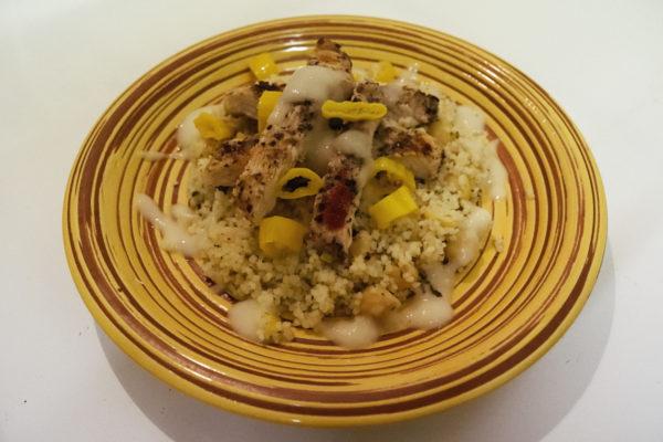 Chicken sumac with lemon couscous