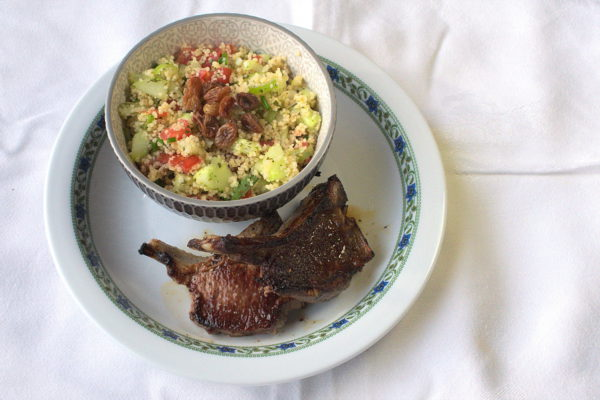 Couscous salad. Inspired by tabbouleh.