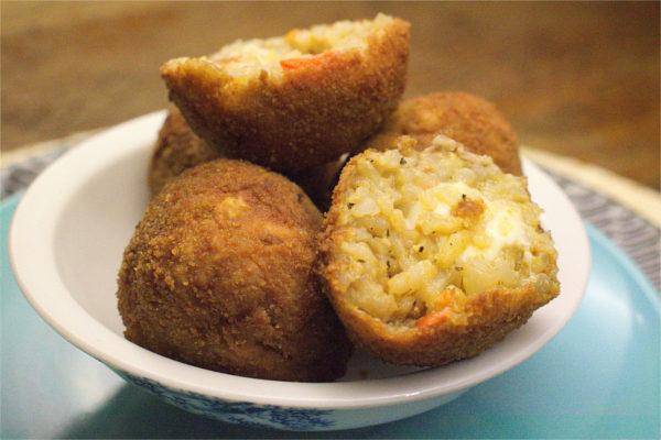 Arancini. Cheesy Risotto Balls.