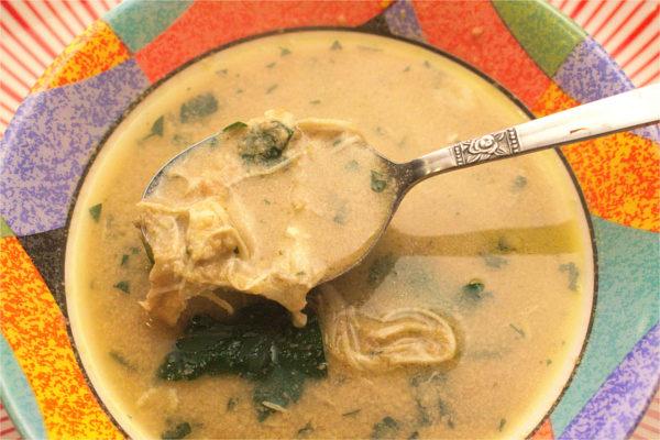 Pinda Bravoe. Surinamese Peanut Soup.